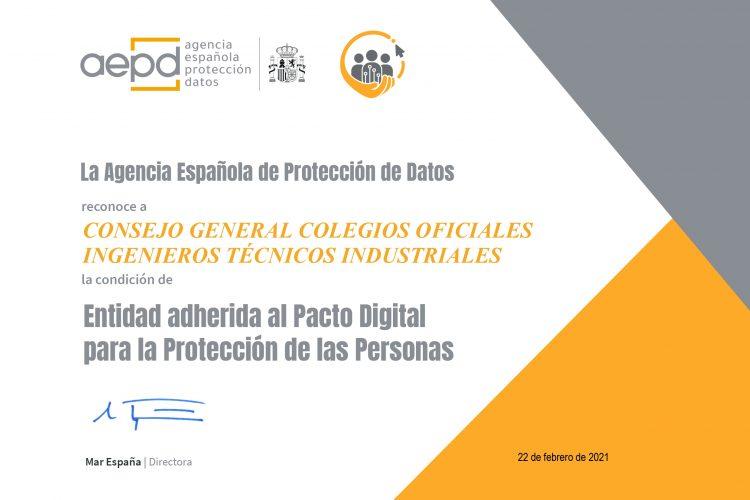 """La AEPD reconoce a Cogiti la condición de Entidad Adherida al """"Pacto Digital para la Protección de las Personas"""